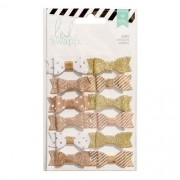 Cartela de Enfeites Laço Dourado - Heidi Swapp