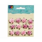 Adesivo Flores Decorativas Mini Rosa - Toke e Crie