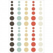 Cartela de Adesivos Enamel Dots Winter Wonderland - Simple Stories