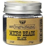 Microbeads Art Ingredients Black - Prima Marketing