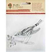 Carimbo em Silicone - Modelo Pássaro - Juju Scrapbookk