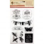 Cartela de Carimbos em Silicone - Modelo Enjoy - Coleção  Juju Scrapbook