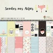 Kit Coordenado -  Coleção Sonhos nos Alpes / Juju Scrapbook