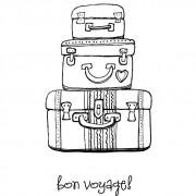 Carimbo Stamping Bella - Modelo Pack your bags