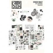 Coleção Beautiful - Carpe Diem / Bloco de Adesivos