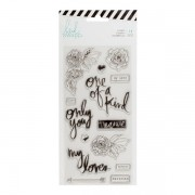 Carimbos Clear Stamps One of a Kind - Heidi Swapp