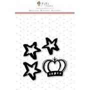 Carimbo Mini Estrelinhas - Coleção Mundo Mágico - JuJu Scrapbook