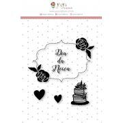 Carimbo M Dia de Noiva - Coleção Felizes para Sempre - JuJu Scrapbook