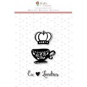Carimbo M Café em Londres - Coleção Mundo Mágico - JuJu Scrapbook