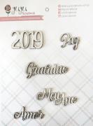 Cartela de Enfeites 2019 e Mais - Coleção Toda Básica / JuJu Scrapbook