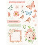 Coleção Shabby Dreams by Babi Kind - Adesivo Momento Especial / JuJu Scrapbook