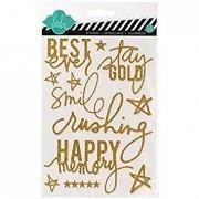 Enfeite Adesivo Glitter Dourado - Heidi Swapp