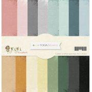 Kit Coordenado 16 papéis - Coleção Toda Básica / JuJu Scrapbook