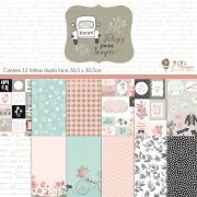 Kit Coordenado - Coleção Felizes Para Sempre / JuJu Scrapbook
