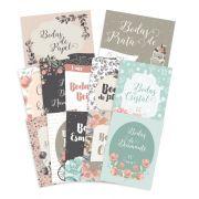 Kit de Cards Bodas de Amor P - Coleção Felizes para Sempre / JuJu Scrapbook