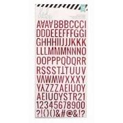Letras Adesivas Vermelho com Glitter - Heidi Swapp