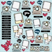Papel All Hearted / Hello & Heart - Goodies
