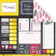 Papel Modelo Cada Coisa em Seu Lugar - Coleção Todo Momento Importa / JuJu Scrapbook