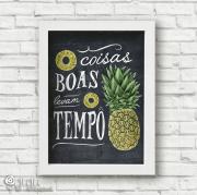 Poster Coisas Boas Levam Tempo - Coleção Todo Momento Importa / Juju Scrapbook