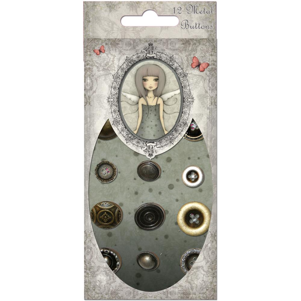Metal Buttons - Mirabelle  - JuJu Scrapbook