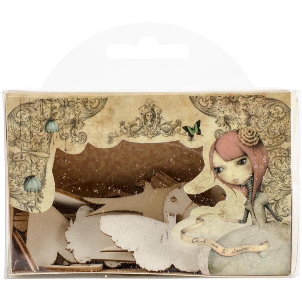 Wooden Shapes - Mirabelle SNWC004  - JuJu Scrapbook