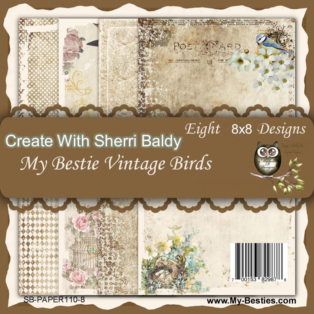 Papel My Besties - My Bestie Vintage Birds  - JuJu Scrapbook