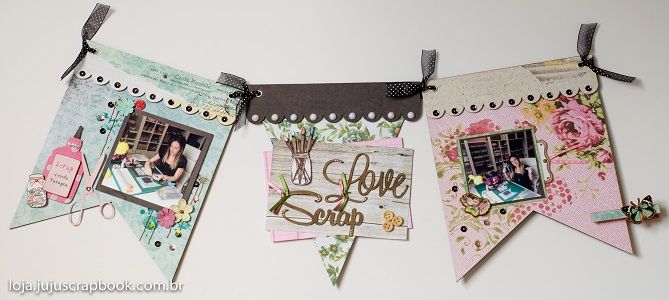 Kit de Bandeirinhas Love Scrap - JuJu Scrapbook / Kit 1002  - JuJu Scrapbook