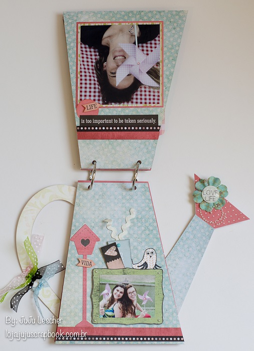 Kit Picnic- Álbum Regador / JuJu Scrapbook  - JuJu Scrapbook