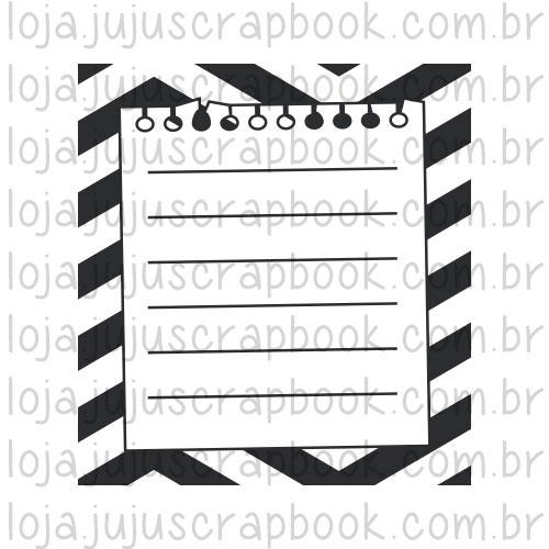 Carimbo Modelo Bilhetinho - Coleção Picnic / JuJu Scrapbook  - JuJu Scrapbook