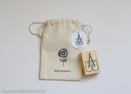 Carimbo Modelo Potinho Brinde - Coleção Picnic / JuJu Scrapbook  - JuJu Scrapbook
