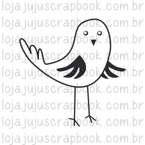 Carimbo Modelo Passarinho - Coleção Picnic / JuJu Scrapbook  - JuJu Scrapbook