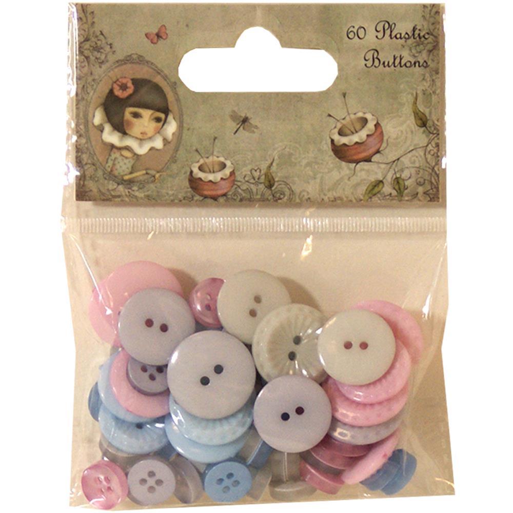 Plastic Buttons - Mirabelle  - JuJu Scrapbook