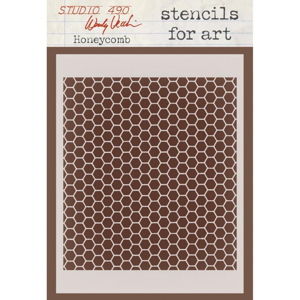 Stencil Honeycomb - Stampers Anonymous  - JuJu Scrapbook