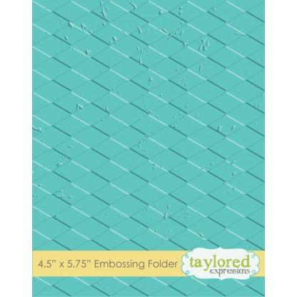 Placa para relevo - Harlequin/ Taylored Expressions  - JuJu Scrapbook