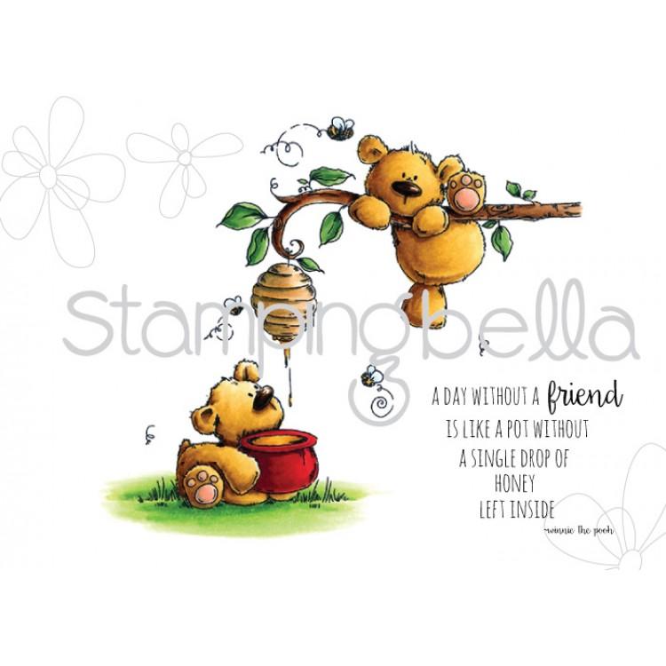 Carimbo - Honeybear Stuffies - Stamping Bella  - JuJu Scrapbook
