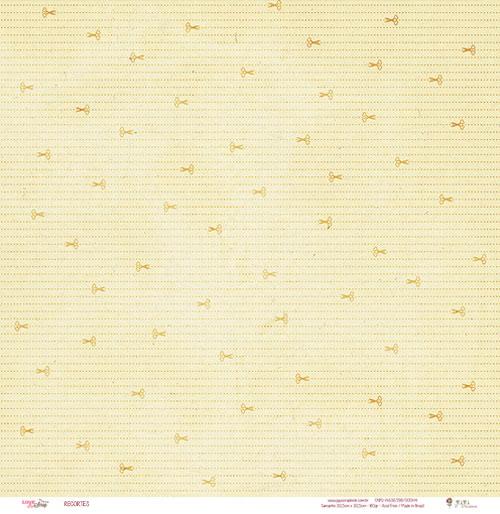 "Kit com 12 - Papel ""Recortes"" - Coleção Love Scrap / JuJu Scrapbook  - JuJu Scrapbook"