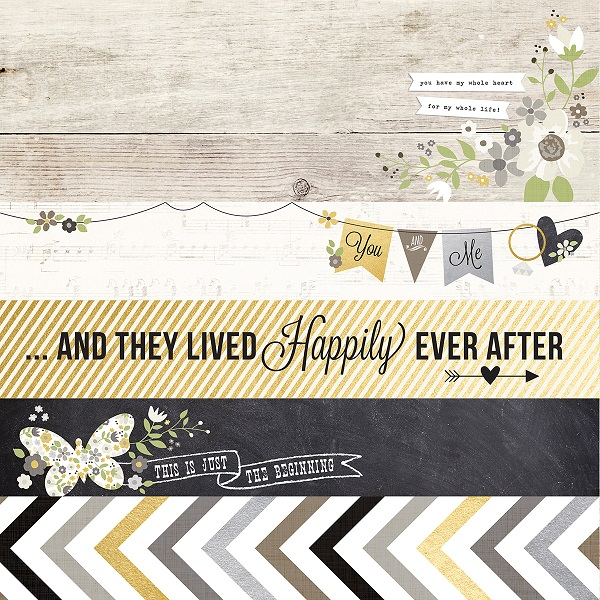 Papel The Story of Us - Title Strip Elements / Simple Stories  - JuJu Scrapbook