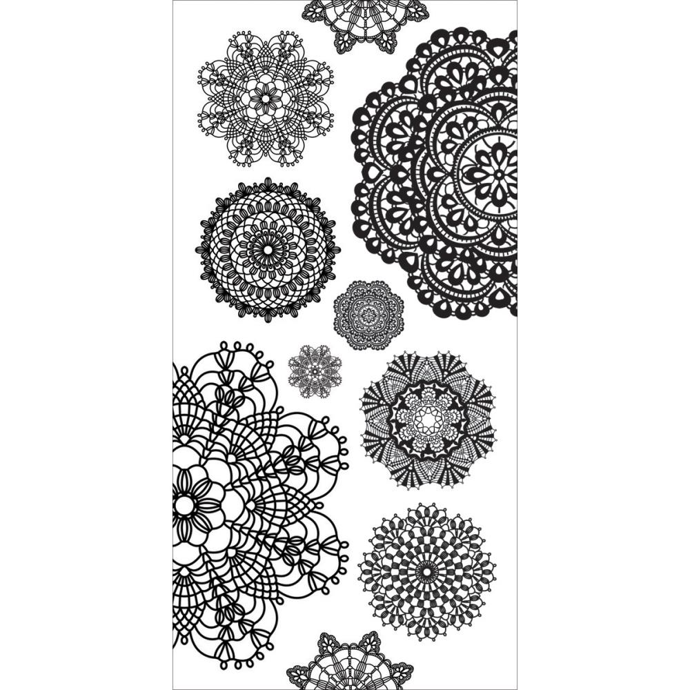 Cartela de Adesivos - Doilies / Kaiser Craft  - JuJu Scrapbook