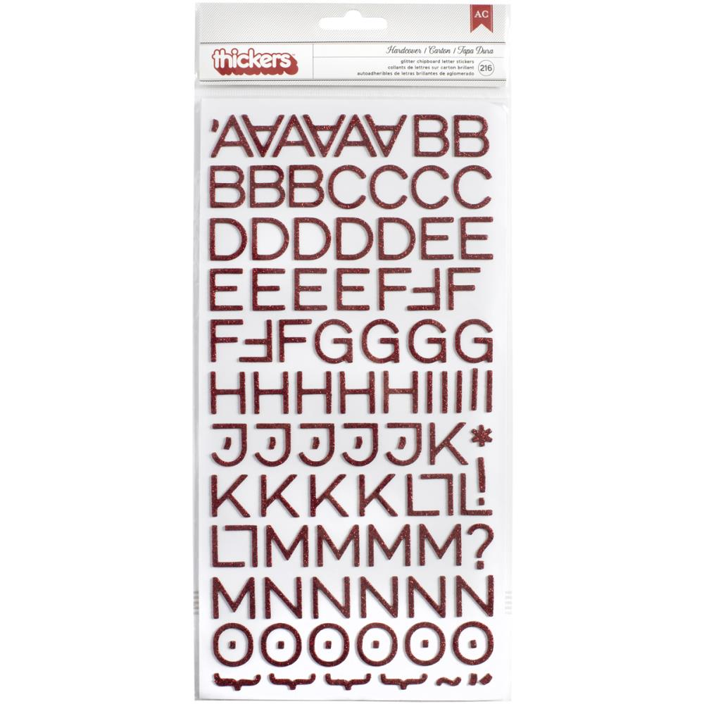 Alfabeto Autocolante - American Crafts  - JuJu Scrapbook