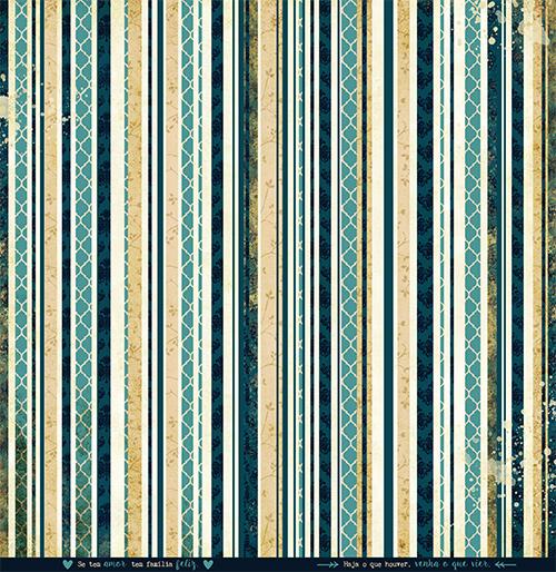 """Kit com 12 - Papel """"Como Tudo Começou"""" - Coleção Família para Sempre / JuJu Scrapbook  - JuJu Scrapbook"""