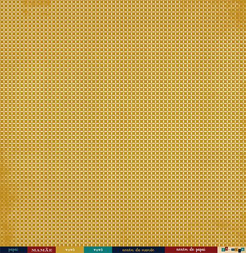 """Kit com 12 - Papel """"Razão de Tudo"""" - Coleção Família para Sempre / JuJu Scrapbook  - JuJu Scrapbook"""