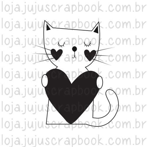 Carimbo Modelo Gato - Coleção Família para Sempre / JuJu Scrapbook  - JuJu Scrapbook