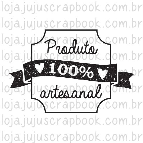 Carimbo Modelo Produto 100% Artesanal - Coleção Love Scrap / JuJu Scrapbook  - JuJu Scrapbook