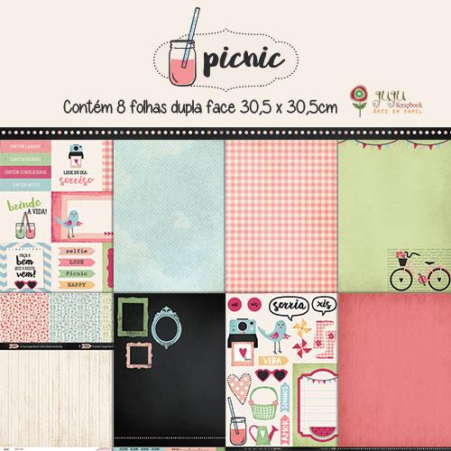 Kit Coordenado - Coleção Picnic / JuJu Scrapbook  - JuJu Scrapbook