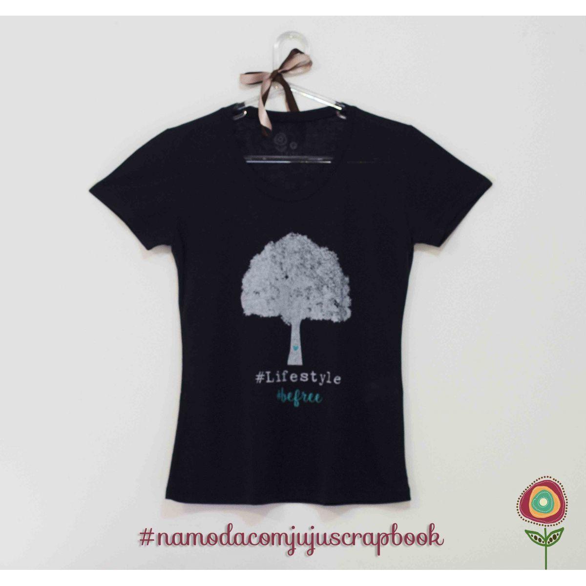 T-shirt Modelo Be Free  - Coleção Família para Sempre / JuJu Scrapbook  - JuJu Scrapbook
