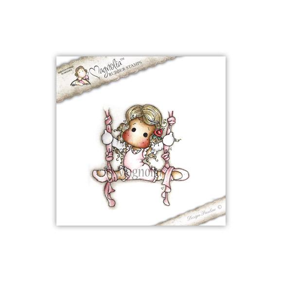Carimbo Magnolia Ribbon Dance Tilda  - JuJu Scrapbook