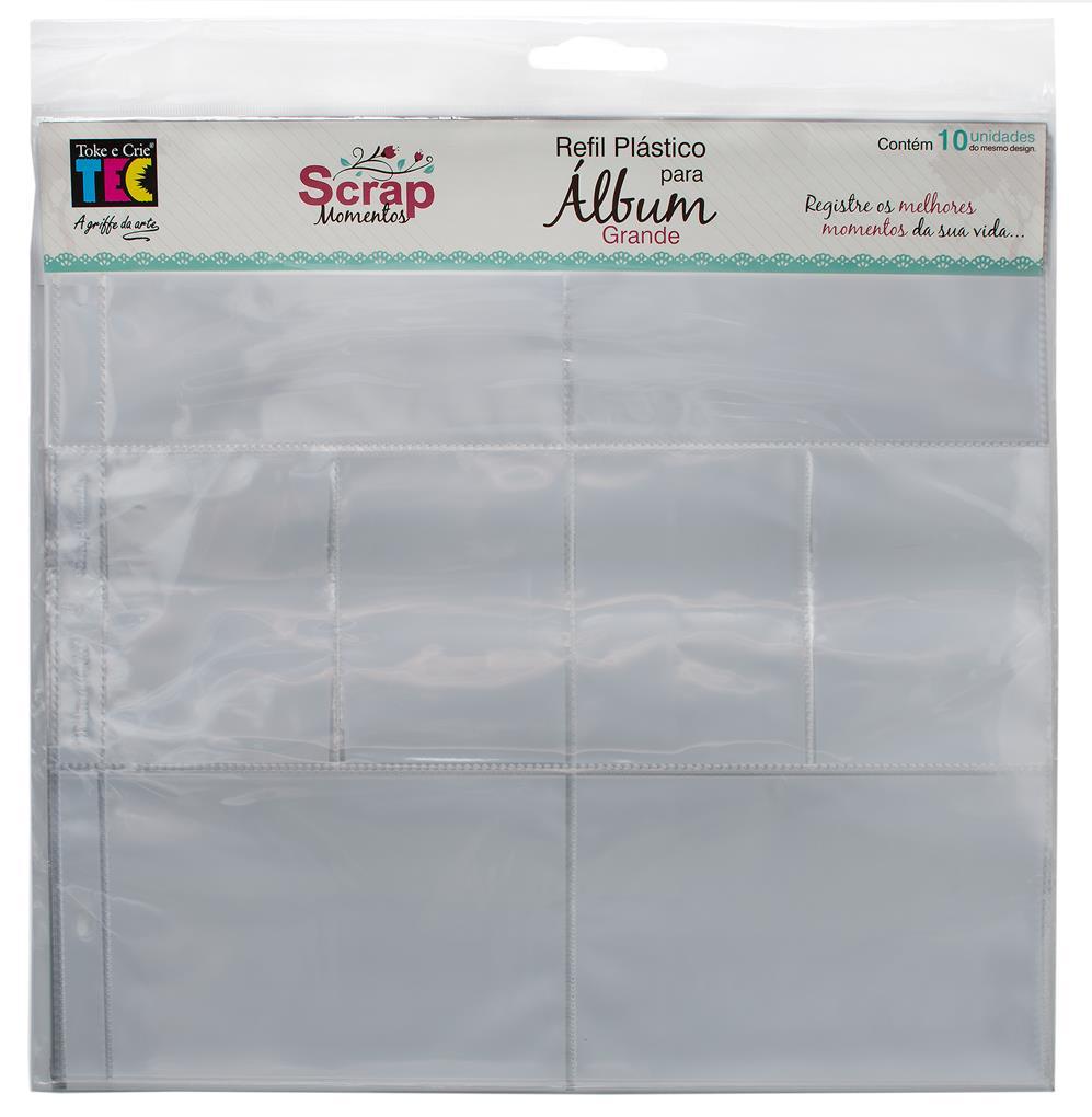 Refil Plástico para Álbum - Grande - Design A / Toke e Crie  - JuJu Scrapbook