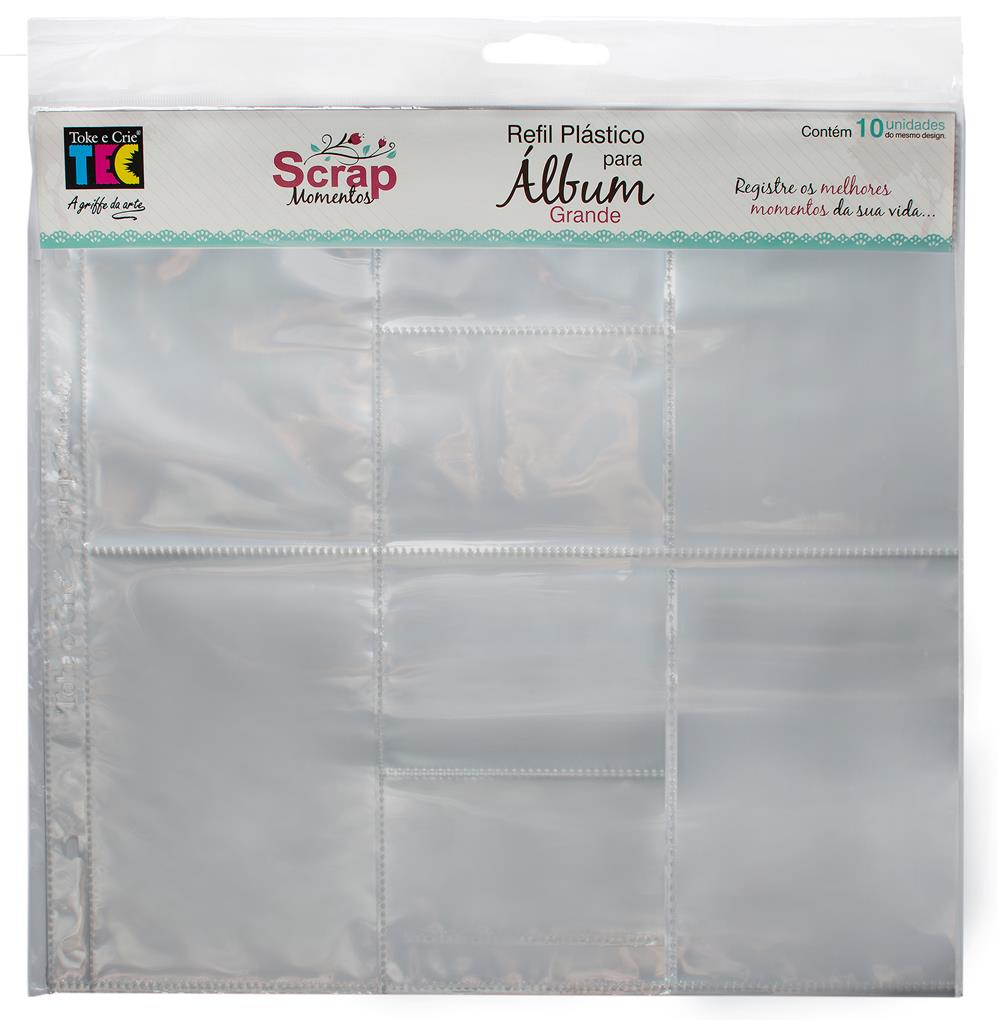Refil Plástico para Álbum - Grande - Design D / Toke e Crie  - JuJu Scrapbook