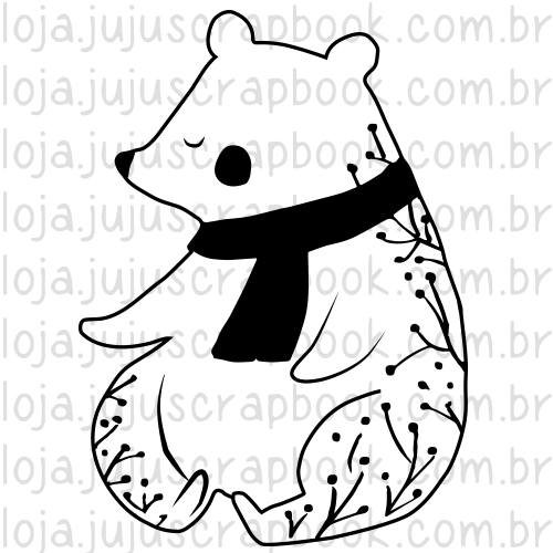 Carimbo Modelo Urso - Coleção Noite Feliz / Juju Scrapbook  - JuJu Scrapbook
