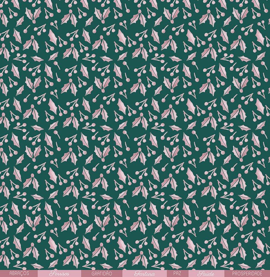 """Kit com 12 - Papel """"Paz e Gratidão"""" - Coleção Noite Feliz / JuJu Scrapbook  - JuJu Scrapbook"""